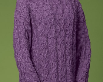 PDF Knitting Pattern Double Chain Cable Pullover #117
