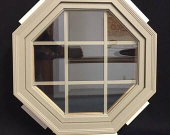 Vinyl Fixed Octagon Sandtone Window