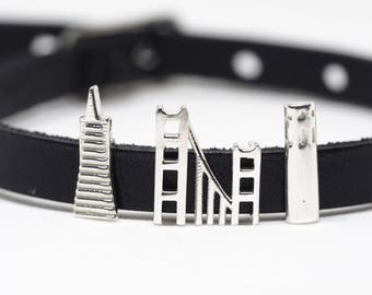 San Francisco Charms CityMania - Lether Bracelets - Christmas Gift - Anniversary Gift For Her
