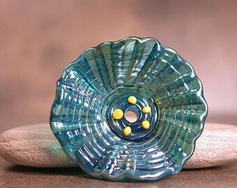 Lampwork Flower Bead, Glass Flower Focal Bead, Sculptural Flower, Art Glass Flower, Divine Spark Designs, SRA