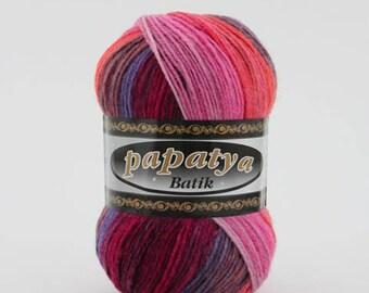 Batik Berry Mix Yarn (5 PACK) (554-26   5*100g)