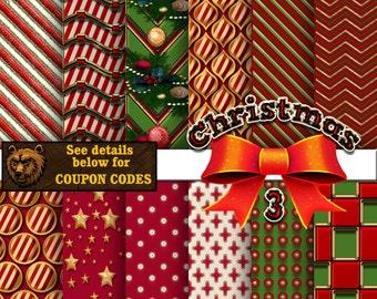 Christmas, Christmas digital, Christmas scrapbook paper,  Christmas background