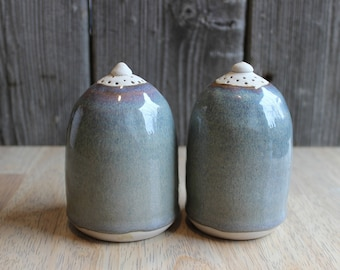 Pottery Salt and Pepper Shakers, Handcrafted Ceramic Salt and Pepper Shakers, Stoneware Salt and Pepper Shakers