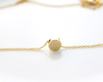 Tiny Round bead necklace/Dot bead necklace/ Round necklace/ Minimal round necklace/ Everyday necklace/wedding gift
