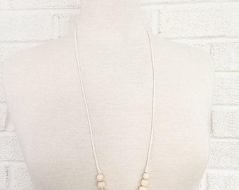 Boho 2 sensory teething nursing necklace