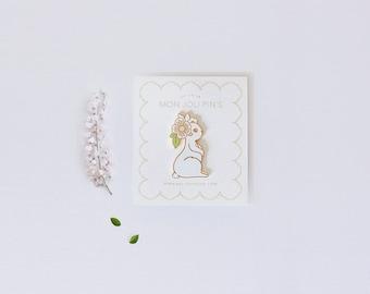 Enamel pins Spring White Rabbit