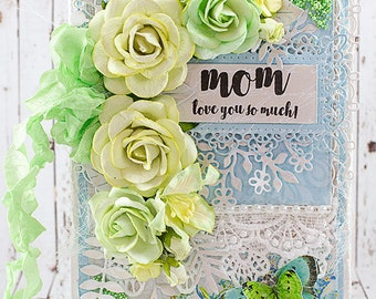 Shabby Chic Mom Love You So Much Mother's Day / Birthday / Just Because Greeting Card