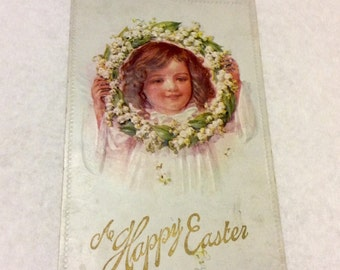 Vintage 1930s Easter Post Card. No writing.