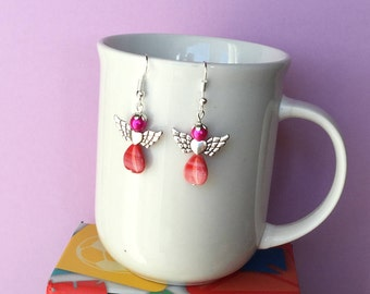 Angel heart earrings design 4