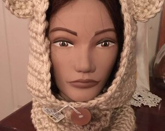 Bear hooded Cowl - child or adult