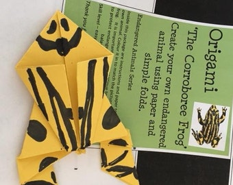 The Corroboree Frog, Origami kit of Endangered Animals, Learn and cCeate Series