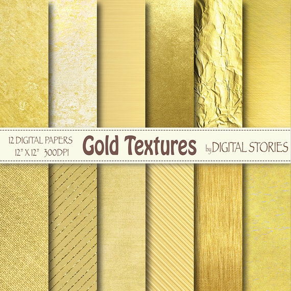 Gold digital paper gold textures golden foil shiny metallic textures photography backdrop invites cards scrapbook from digitalstories on etsy studio