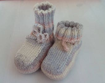 Socks wool baby shoes with alpaca