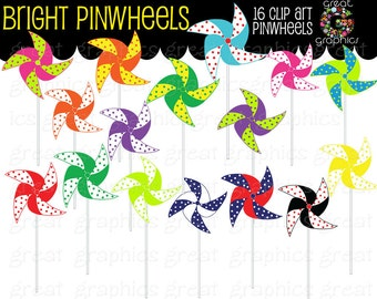 Pinwheel Clip Art Digital Clipart Printable Party Clipart Birthday Party Clipart Party Clipart - Instant Download