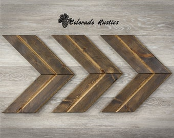 Wooden Chevron Arrow, Rustic Home Decor, Wood Arrow Decor, Wood Arrow Sign, Chevron Art, Chevron Arrow, Rustic Decor, Weathered Brown