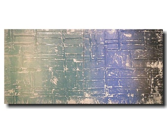 Original art Large Abstract painting - 24 X 48- JMJartstudio -Blue painting-Oil-fathers day gift