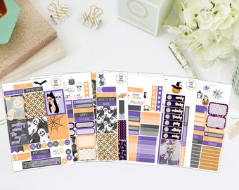 25% OFF SALE (no coupon needed) - Wicked Deluxe Kit - Vertical Planner Stickers (Weekly Sticker Kit) - For Use With Erin Condren LP