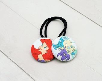 Little Mermaid Hair Tie, Ariel Ponytail Holder, Princess Hair Elastic, Little Mermaid Party Favor, Mermaid Birthday, Mermaid Gift