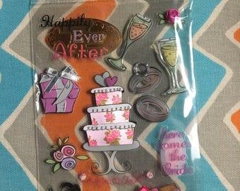 DESTASH Scrapbooking Bridal Shower 13 Piece Set Embellishment