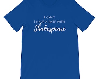 I Can't I Have a Date With Shakespeare Theater Literature Poem Poetry Home School Homeschooler Teacher William Shakespeare English Short Sle