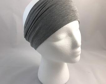 Gray Headband Bamboo Fabric HippyBB HeadBBand
