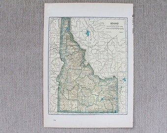 Idaho, Georgia State Map Original Print