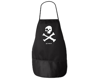 Pirate Apron - Ghost Pirate Skull and Crossbones