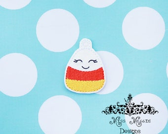 Fall Candy Corn Feltie Charm ITH Embroidery design file