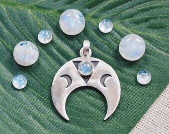 Super moon pendant silver talisman