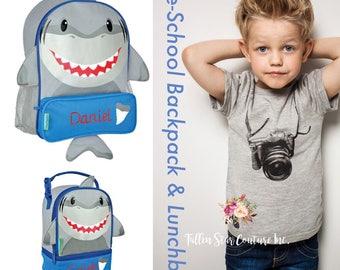 Shark Backpack / personalized toddler backpack / preschool backpack / toddler backpack / lunchbox SIDEKICK