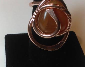Carnelian Copper Statement ring