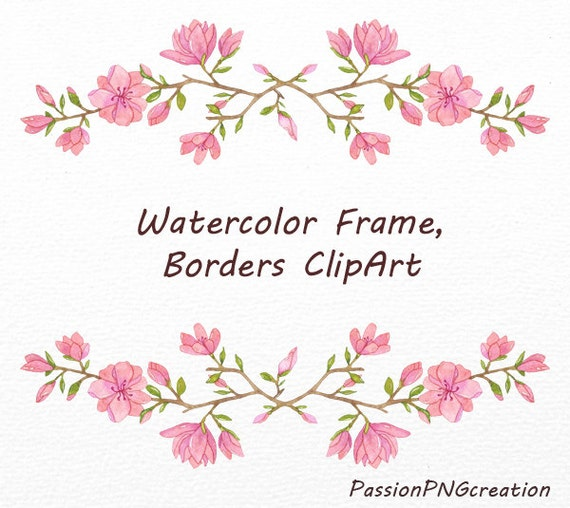 Watercolor Frame And Borders Clipart PNG Clip