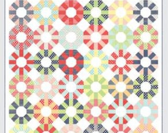"""Colorway Pattern by Thimbleblossoms for Moda- TB 207 -Finished Quilt Size 76"""" x 76"""""""