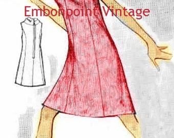 Plus Size (or any size) Vintage 1969 Cocktail Dress Pattern - PDF - Pattern No 118 Vera
