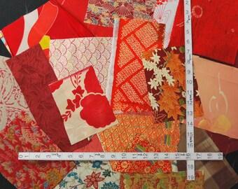 20 kinds of kimono fabric scraps bag 5337A (small pieces)