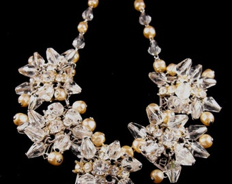 Rhinestone Necklace Earrings To Match Exceptional High End Vintage Costume Jewelry Cha Cha Style