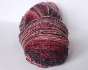 1 ply Lace Weight Kauni Wool Yarn, Hot pink, Pink Purple, Lilac