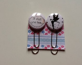 """Set of two paper clips/bookmark """"once upon a time"""""""