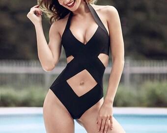 Bandage swimsuit/ bathing suit  as seen in GQ, one piece, bandage swimwear, Criss cross Top selling bathing suit, Brazilian bottoms
