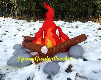 Father's day gift/Campfire Play Set/Felt Campfire/Montessori Toy/Faux Campfire/Pillow/Pretend/Teepee/Accessory, Decor,