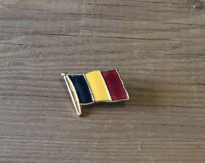 Vintage Brass Belgian Enamelled Pin