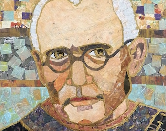"""Saint Maximilian Kolbe signature and dedication with confirmation date upon request 8"""" x 10"""" ready to frame print"""
