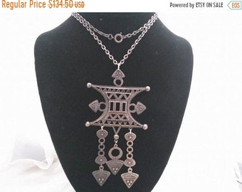 ON SALE CORO Signed Vintage Statement Bib Runway Necklace, 1960's 1970's Collectible Designer Rare Hard To Find Jewelry