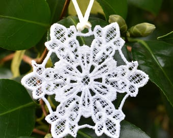 Fleur-de-Lis Snowflake Ornament