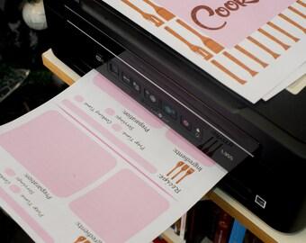 Simple Cookbook Printable
