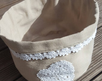 Bread basket Linen and lace