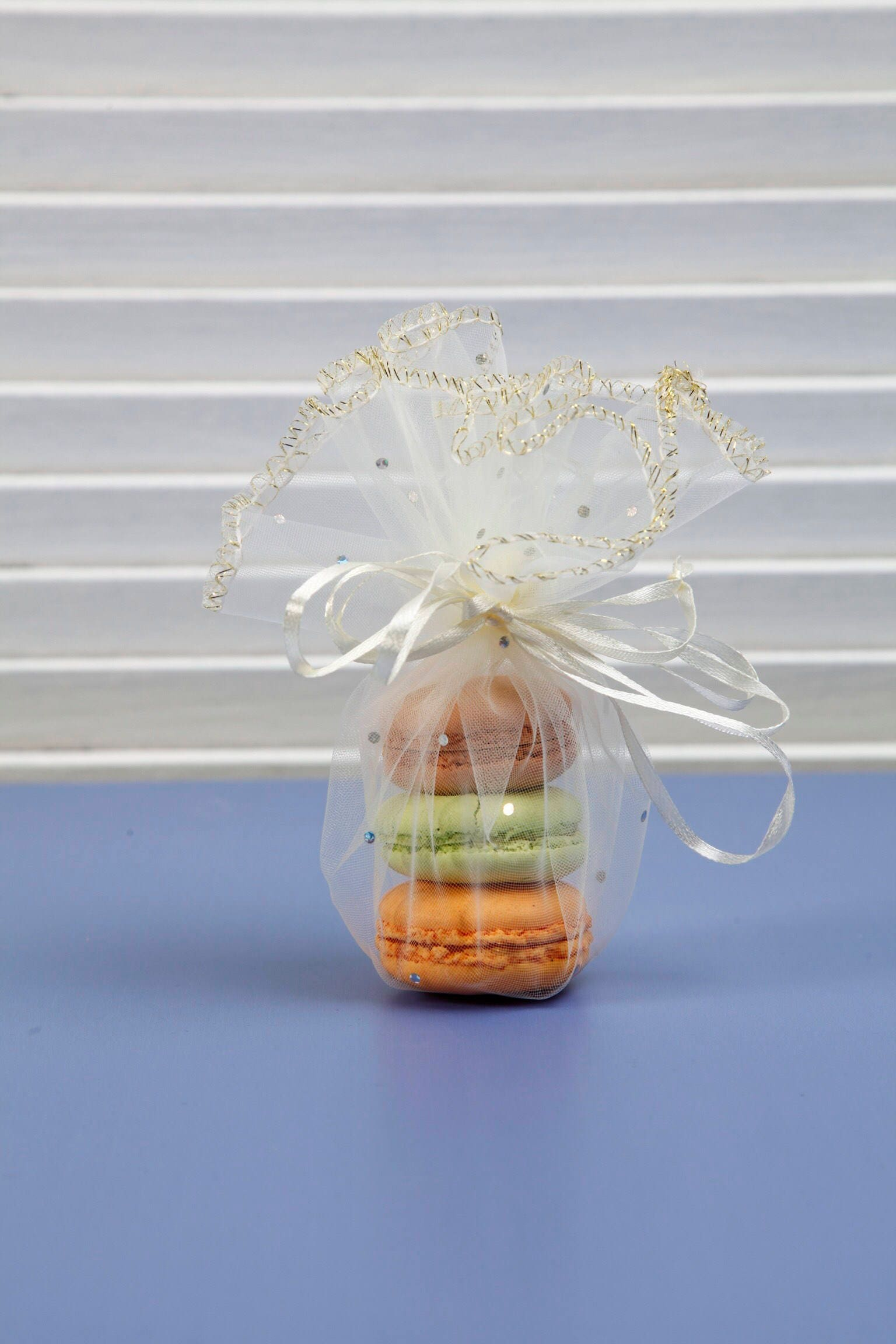 10 pcs organza bag round gift pouch baby shower party favor