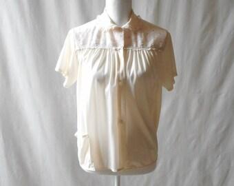 Vintage Peachy Pink 1950s Philmaid Bed Jacket, Vintage Philmaid, 1950s Philmaid, Vintage Bed Jacket, Vintage Lingerie, 1950s Bed Jacket