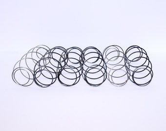 VIntage Mattress Springs, Upcycled, Repurposed, Industrial Salvage, Industrial Decor, Stainless, Assemblages Found Objects, Vicki Bolen