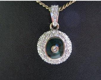 On Sale Sterling Silver Enamel Necklace Pendant/ ultima edizione Italian Sterling